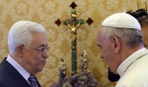 Le Docteur ès négation de la Shoah Mhamoud Abbas rencontre le Pape
