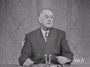 Le Président De Gaulle lors de sa conférence de presse du 27 novembre 1967
