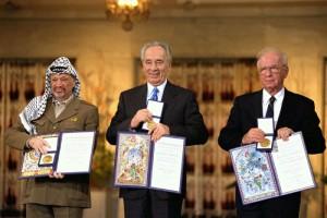 Rabin Peres Arafat prix nobel de la paix