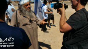 Shaoul Halfon, ancien combattant de la légendaire unité 101 fondée en 1953 par Arik Sharon, doyen des manifestants à 'Arara