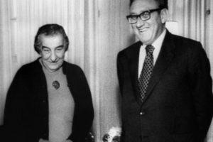 Le Premier Ministre Golda Meir et le Secrétaire d'Etat Henri Kissinger